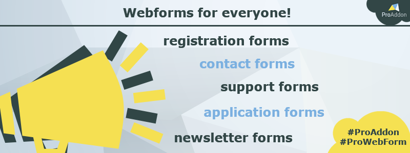 Webforms for everyone